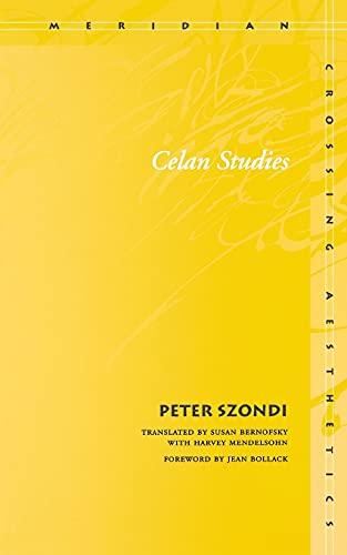 Celan Studies 9780804744027