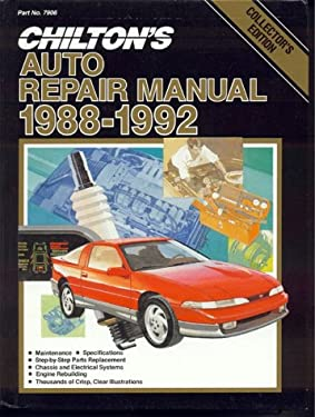 Chilton's Auto Repair Manual, 1988-92 - Perennial Edition 9780801979064
