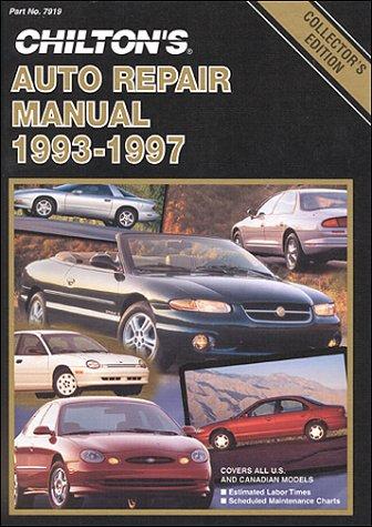 Chilton's Auto Repair Manual, 1993-97 - Perennial Edition 9780801979194