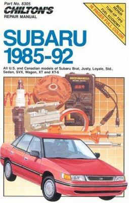 Chilton's Repair Manual: Subaru 1985-92 9780801983054