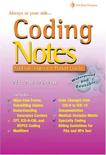 Coding Notes: Medical Insurance Pocket Guide 9780803614932