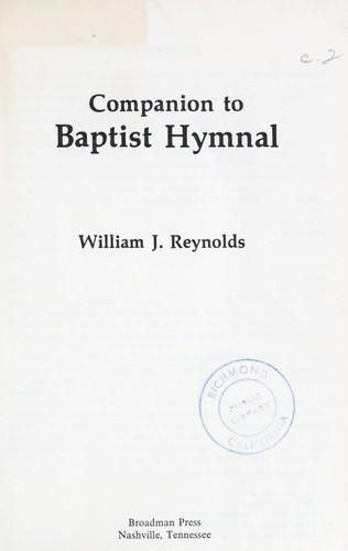 Companion To Baptist Hymnal By William Jensen Reynolds