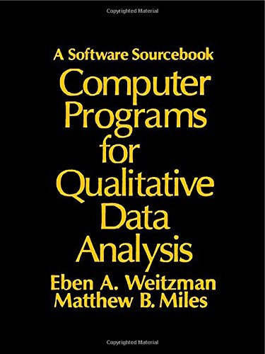 Computer Programs for Qualitative Data Analysis: A Software Sourcebook