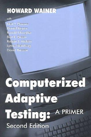 Computerized Adaptive Testing 2nd 9780805835113