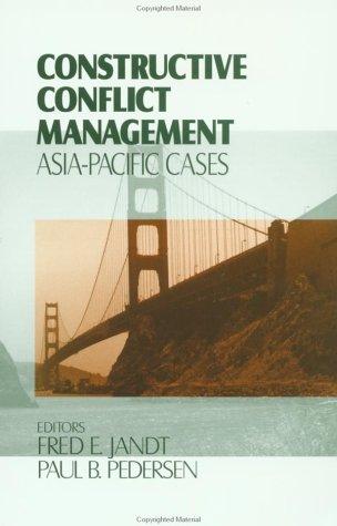 Constructive Conflict Management: Asia-Pacific Cases 9780803959491