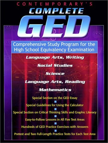 Contemporary's Complete GED: Comprehensive Study Program for the High School Equivalency Examination 9780809294695