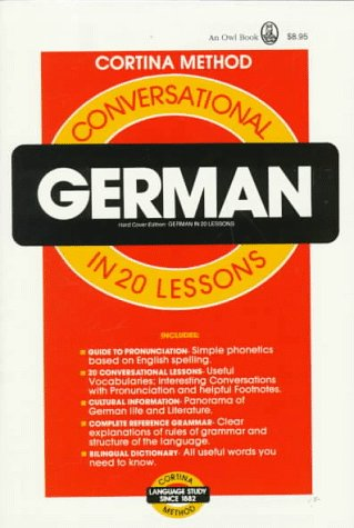 Conversational German: In 20 Lessons 9780805014983