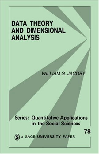 Data Theory and Dimensional Analysis 9780803941786