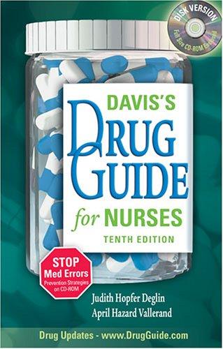 Davis's Drug Guide for Nurses [With CDROM] 9780803614543