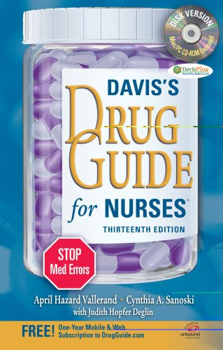 Davis's Drug Guide for Nurses [With CDROM] 9780803628335