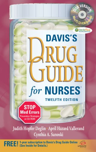 Davis's Drug Guide for Nurses [With CDROM and Access Code] 9780803623088