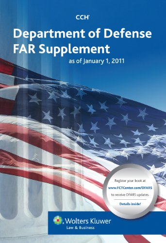 Department of Defense Far Supplement (Dfars) as of January 1, 2011 9780808024408