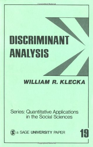 Discriminant Analysis 9780803914919