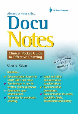 DocuNotes: Clinical Pocket Guide to Effective Charting 9780803620926