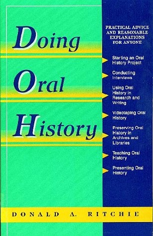 Oral History Series: Doing Oral History 9780805791280