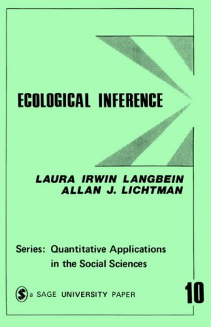 Ecological Inference 9780803909410