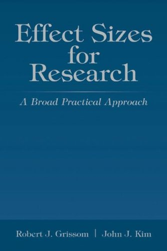 Effect Sizes for Research: Univariate and Multivariate Applications 9780805850147