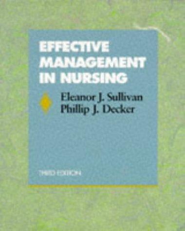 Effective Management in Nursing 9780805378627
