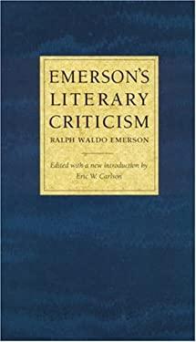 Emerson's Literary Criticism 9780803267282