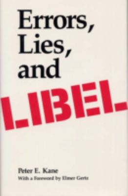 Errors, Lies, and Libel 9780809317196