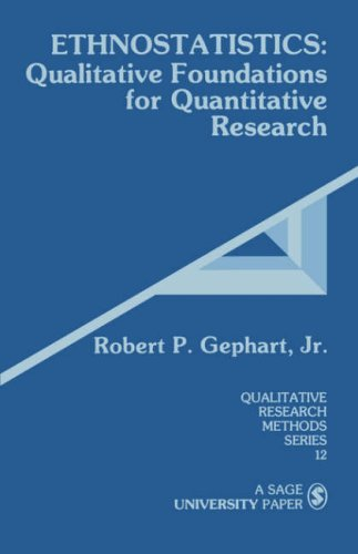 Ethnostatistics: Qualitative Foundations for Quantitative Research 9780803930261