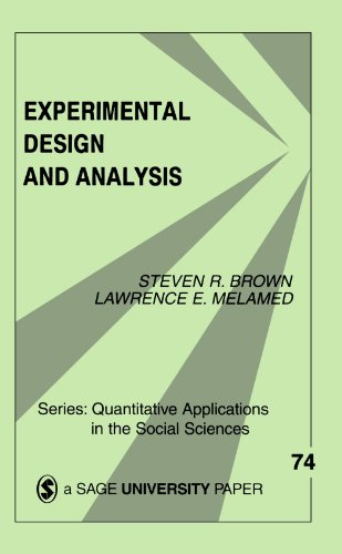 Experimental Design & Analysis 9780803938540