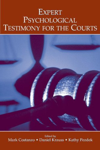 Expert Psychological Testimony for the Courts 9780805856484