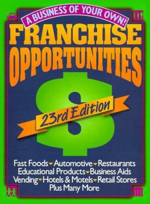 Franchise Opportunities: A Business of Your Own 9780806938707