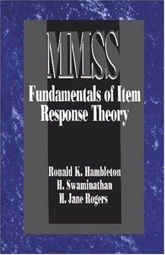 Fundamentals of Item Response Theory 9780803936478