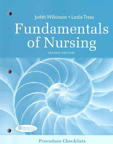 Fundamentals of Nursing Procedure Checklist 9780803623569