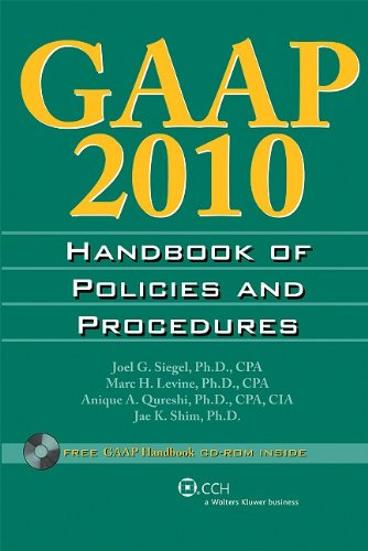 GAAP Handbook of Policies and Procedures [With CDROM] 9780808020981