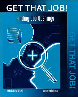 Get That Job! Finding Job Openings 9780809207619