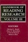 Handbook of Reading Research, Volume III 9780805823998