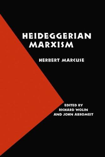 Heideggerian Marxism 9780803283121
