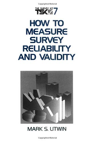 How to Measure Survey Reliability and Validity 9780803957046