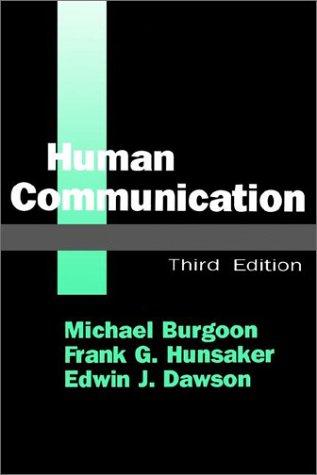 Human Communication 9780803950771