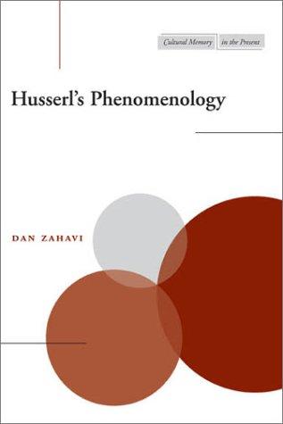 Husserl's Phenomenology 9780804745468