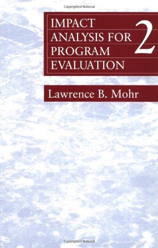 Impact Analysis for Program Evaluation 9780803959361