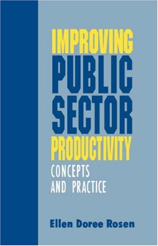 Improving Public Sector Productivity: Concepts and Practice 9780803945739