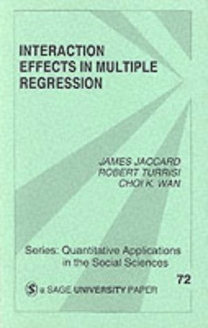 Interaction Effects in Multiple Regression 9780803937031