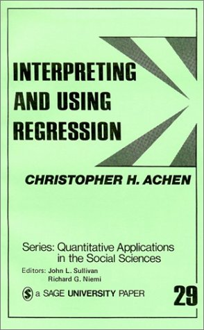 Interpreting and Using Regression 9780803919150