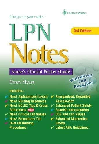 LPN Notes: Nurse's Clinical Pocket Guide 9780803627666