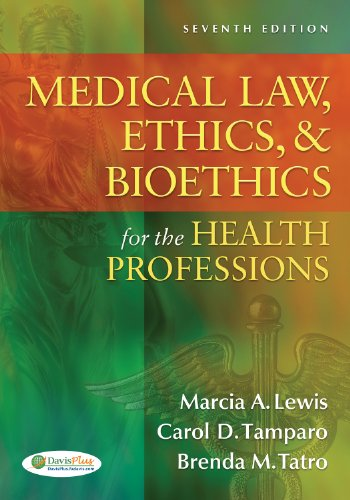 Medical Law, Ethics, & Bioethics for the Health Professions 9780803627062
