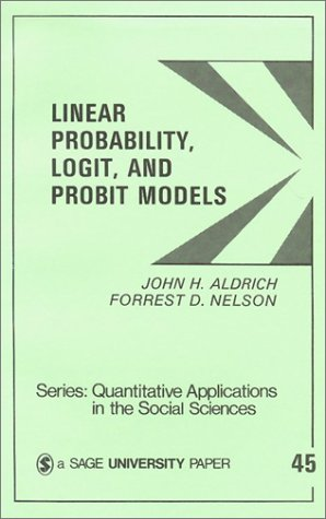 Linear Probability Logit & Probit Models 9780803921337