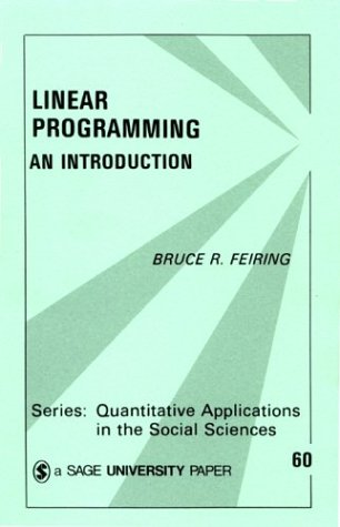 Linear Programming: An Introduction 9780803928503