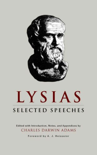 Lysias: Selected Speeches 9780806113968