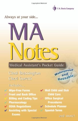 MA Notes: Medical Assistant's Pocket Guide 9780803612815