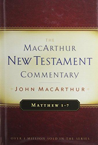 Matthew 1-7 MacArthur New Testament Commentary 9780802407559