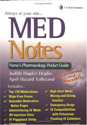 MedNotes: a Nurse's Pocket Pharmacology Guide 9780803611092