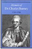 Memoirs of Dr. Charles Burney, 1726-1769 - Burney, Charles / Grant, Kerry S. / Bowers, Gary